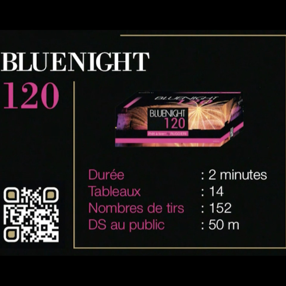 Bluenight 120 - Feu d'artifice automatique